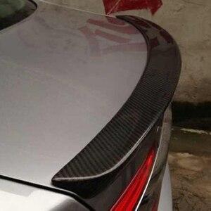 Задний спойлер для багажника автомобиля из углеродного волокна для Jaguar XF X250 XF X260 УГЛЕРОДНЫЙ спойлер 2013 2014 2015 автомобильный Стайлинг