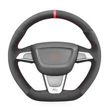 Black Suede Car Steering Wheel Cover For Seat Ibiza (6J) (FR) 2012 2015 Ibiza (6J) (CUPRA) 2012 2015 Mii FR 2013 2020