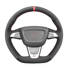 Schwarz Wildleder Auto Lenkrad Abdeckung Für Seat Ibiza (6J) (FR) 2012 2015 Ibiza (6J) (CUPRA) 2012 2015 Mii FR 2013 2020