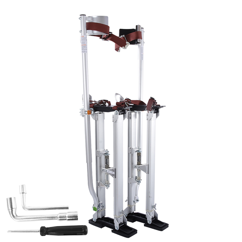 "New 24""-40"" Adjustable Professional Aluminum Plastering Stilt Ladder Drywall Plaste Stilts Stage Props Interior Decoration Stand"