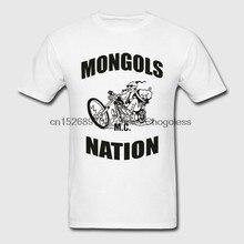 Camiseta de moda masculina mongóis