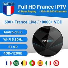 Spain Arabic France IPTV French HK1 MINI+ Android 9.0 4G+128G BT Dual-Band WIFI Italy Turkey Portugal IPTV France Arabic DATOO iptv france arabic italy code datoo hk1 mini android 9 0 bt dual band wifi 1 year iptv france arabic spain portugal set top box