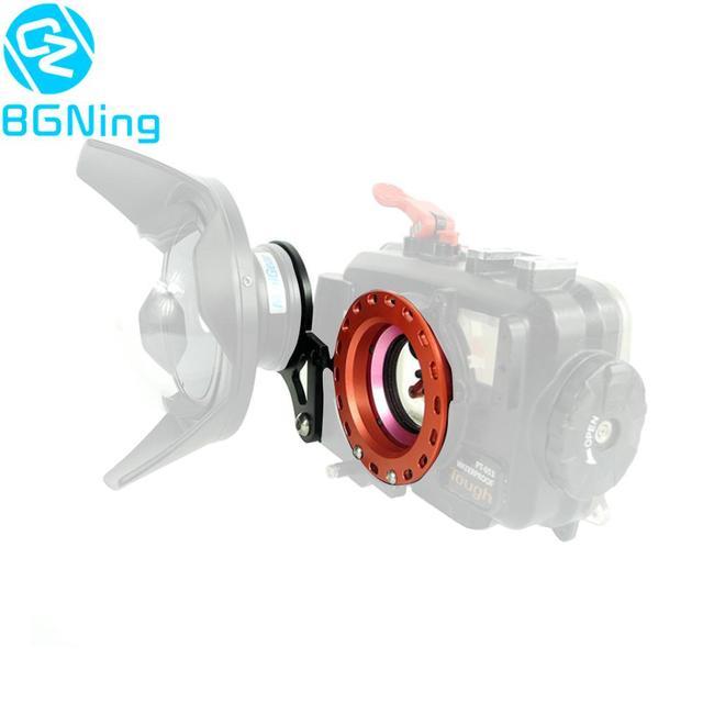 Bgning Nhôm M52 Ren 52 52 Mm Lật Adapter Ring Đỏ Kẹp Lặn Lọc Mắt Cá Để Chống Nước dưới Nước Phần