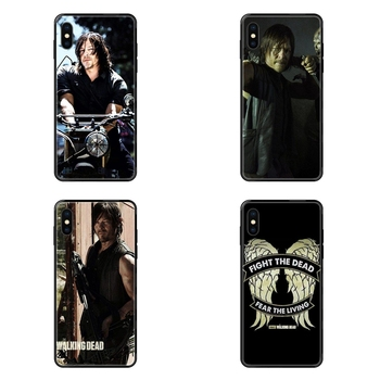 New Style The Walking Dead Daryl Dixon Shining Colorful Black Soft TPU Screen Protector For Samsung Galaxy S5 S6 S7 S8 S9 S10 image