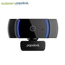 Papalook af925 1080p hd completo autofoco webcam com redução de ruído mic usb web camera vídeo conferência para computador portátil