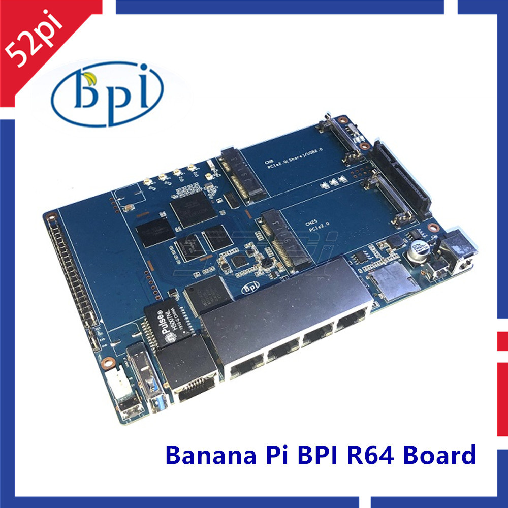 New! Banana Pi BPI-R64 MT 7622 Opensource Router Development Board MT7622 4 Gigabit LAN Ports 1 Gigabit WAN 64 Bit Chip