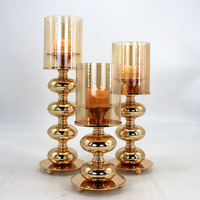 Metal Candle Holder Candelabra Fashion Wedding Candle Stand Exquisite Candlestick Table Home Decor Table centerpieces