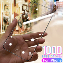 100D Protective Tempered Glass On The For iPhone 6 6s 7 8 Plus X 10 Glass Screen Protector on For iPhone 11 pro Max X XR XS MAX