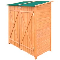 Vidaxl jardim galpão para armazenamento ao ar livre galpão espaçoso espaço de armazenamento para toda a ferramenta de jardim de madeira de pinho sólido quadro sala de armazenamento galpão