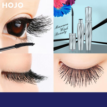 New Fiber Black Mascara Eyelashes Makeup 4D Silky Eyelashes Lengthening Eye Cosmetics Eyelashes Makeup Waterproof Mascara Volume недорого