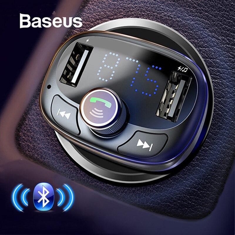 Baseus FM Transmitter Modulator Bluetooth Car Kit Audio MP3 Player mit 3.4A Dual USB Auto FM Transmittor Telefon Ladegerät