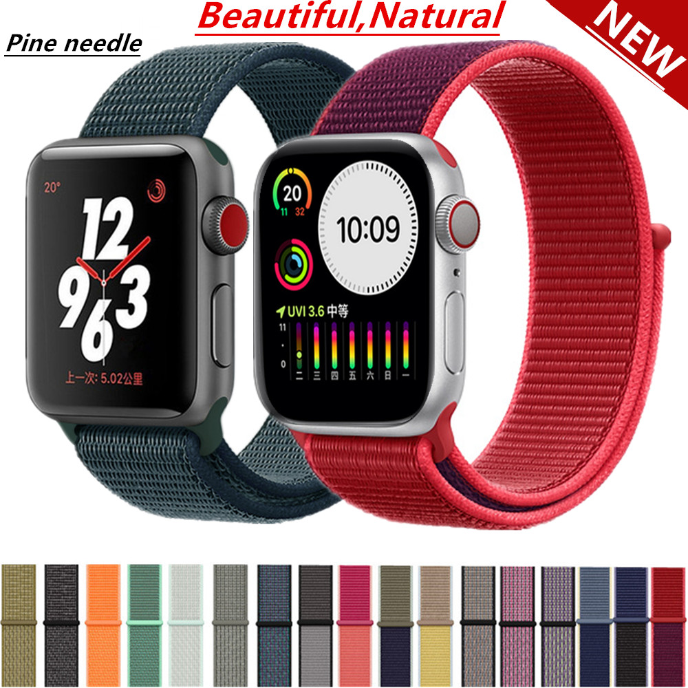 Strap For Apple Watch Band Sport Loop Apple Watch 5 4 3 Band 44mm 40mm Iwatch 5 4 42mm  38mm Correa Nylon Bracelet Pulseira Nato