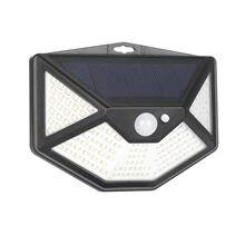 Goodland-lámpara Solar con Sensor de luz por movimiento Pir para decoración de jardín, farola con luz Led Solar de 112 LEDs para pared exterior