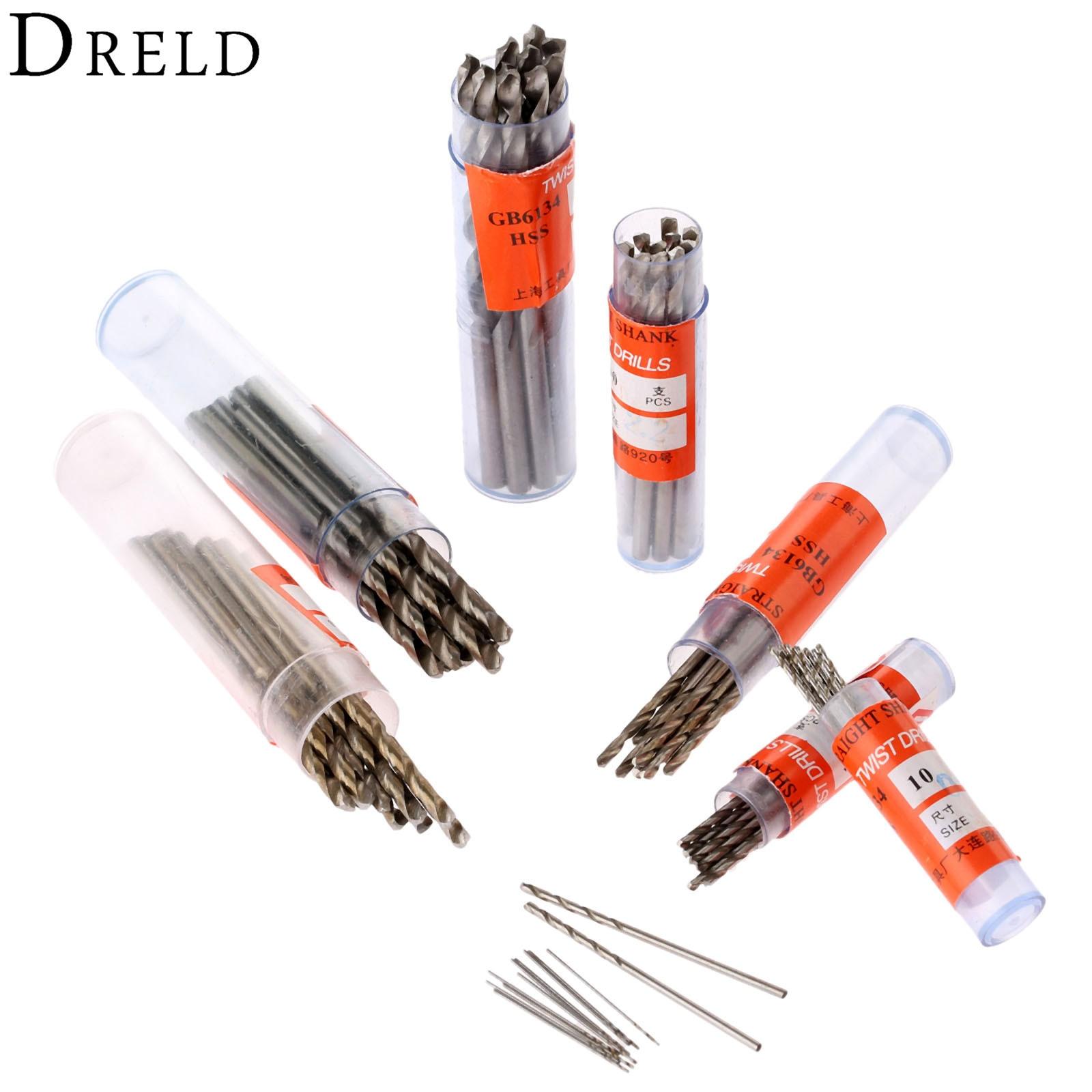 10Pcs Electric Woodworking Tools Twist Drill Bits HSS Drill Bit Micro Straight Shank Wood Drilling 0.5mm-3.5mm For Wood Aluminum