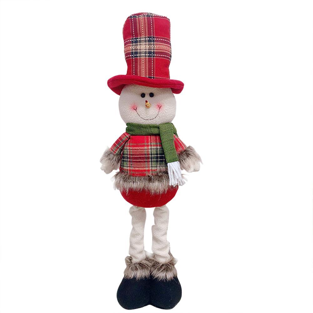 Хит, 30 стилей, рождественские украшения для дома, Рождественские куклы, елочные украшения, инновационная декорация с лосем, Сантой, снеговиком - Цвет: W 57x13.5cm