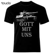 Gott Mit Uns Tiger Deutsch Armee Tank Panzer WW2 T-Shirt