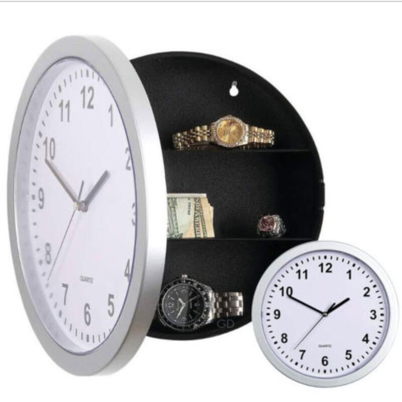 Creative Hidden Secret Safe Box Wall Clock Wall-mounted Hanging Key Cash Money Jewelry Storage Security Box Home Decor LESHP