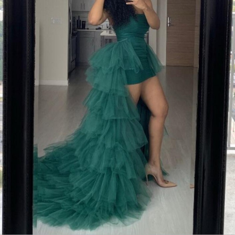 Hunter Green Skirts Tulle Maxi Skirt Jupe Femme 2020 Women Skirt Tiered Custom Made Long Tulle Skirt
