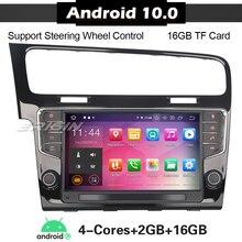 Автомобильная стереосистема на Android 10, 5111, для VW GOLF 7 VII, Wi Fi, DAB +, TPMS, 4G, Восьмиядерный, Авторадио, радио, плеер, головное устройство Carplay