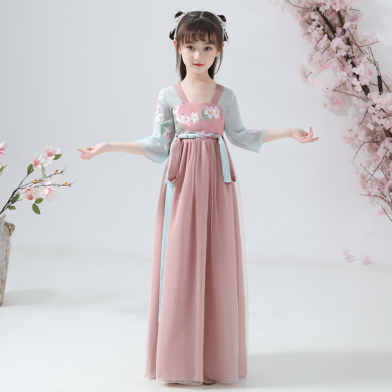 Vestido Chino Chinese Han Fu Vintage Girls Evening Party Wedding Dress Cosplay Ancient Perform Dresses For Girls 2020