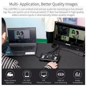 Image 4 - FEELWORLD محول فيديو LIVEPRO L1 V1 ، محول فيديو مباشر 4xHDMI ، Hdmi ، USB3.0 ، تنسيق متعدد ، استوديو ، معاينة ، كاميرا Youtube
