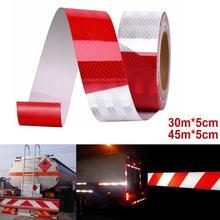 Auto Reflektierende Streifen Lkw anhänger Reflektierende Band Aufkleber Warnung Streifen Zeichen Nacht Fahr Sicherheit Rot Weiß Reflektierende Streifen