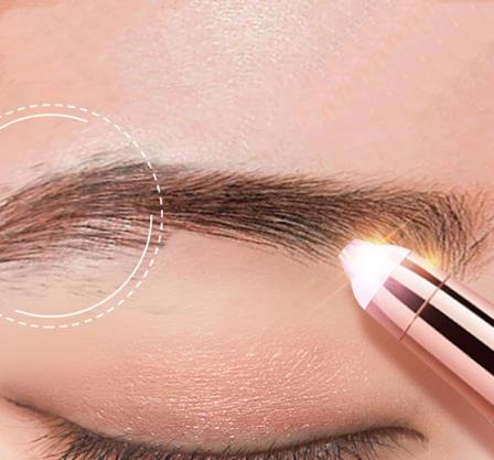 Eyebrow Trimmer Portable Hair Epilator Facial Hair Remover Mini Shaver Instant Painless Eyebrow Trimmer Battery Powered