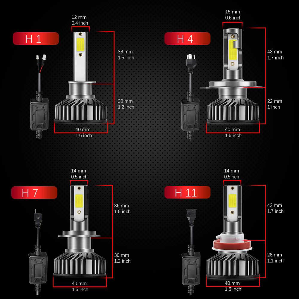 BraveWay турбо светодиодный светильник с can-bus H4 H7 светодиодный H1 H8 H11 светодиодный лампы мини автомобилей головной светильник 10000LM 72W фары для авто фары 12V 24V 6500K