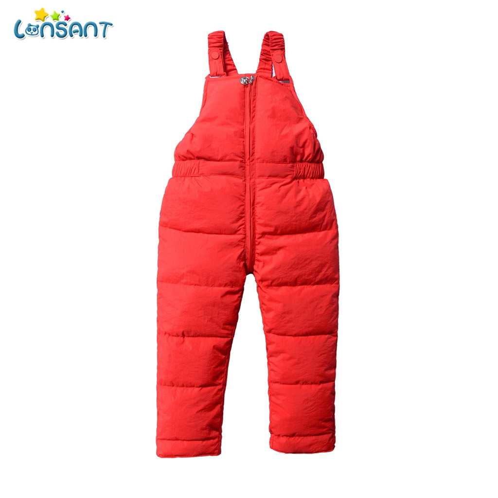 LONSANT Baby Children Warm Strap Pant For Girls Boys Winter Jumpsuit Overalls Suit 2019 Kids Casual Rompers Clothes Sets N30