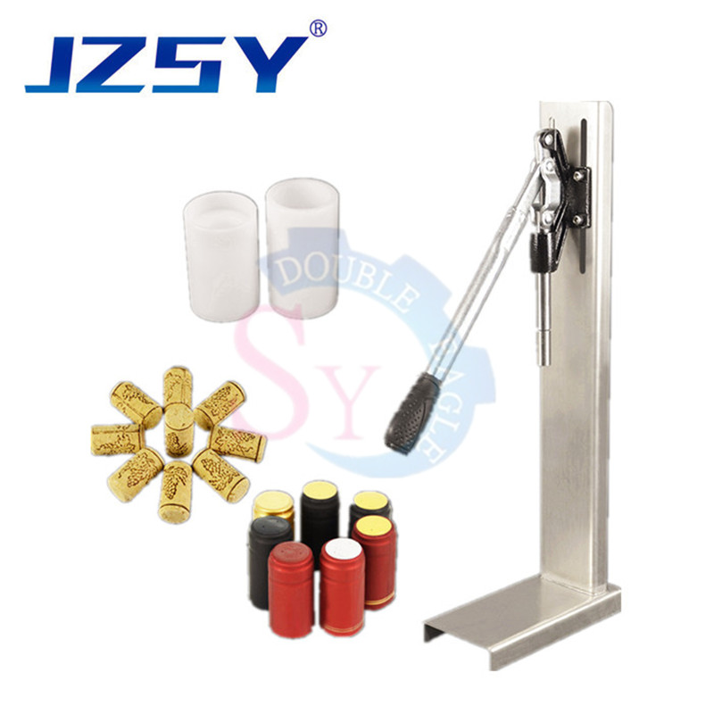 Commercial Stainless Steel Small Manual Red Wine Bottle Corking Capping Machine Cork Into Bottle Tool Wine Stopper Pusher Corker