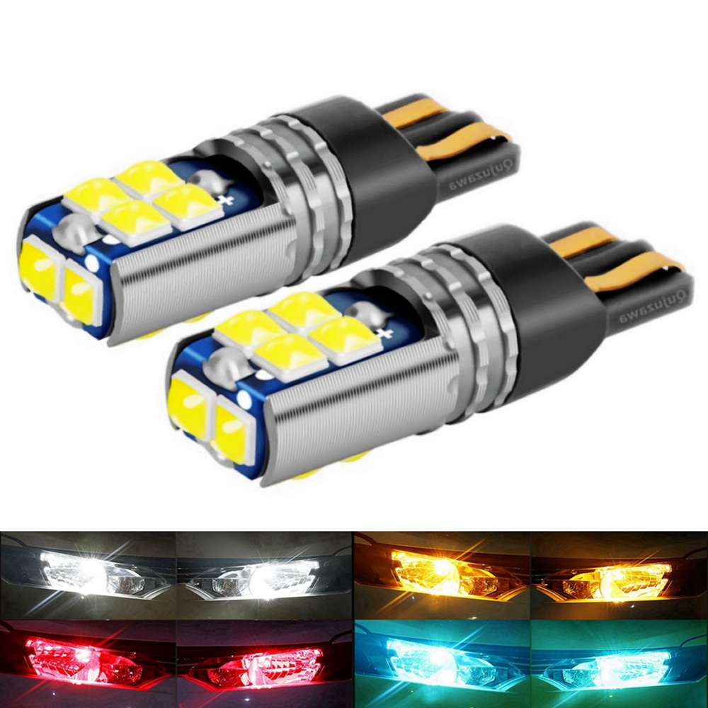 2 шт., автомобильные светодиодсветодиодный лампы T10 W5W 168 WY5W