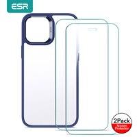 ESR-Funda de teléfono para iPhone 12 Pro Max, carcasa clásica híbrida con absorción de impacto para iPhone 13 Pro, cubierta trasera transparente de cristal