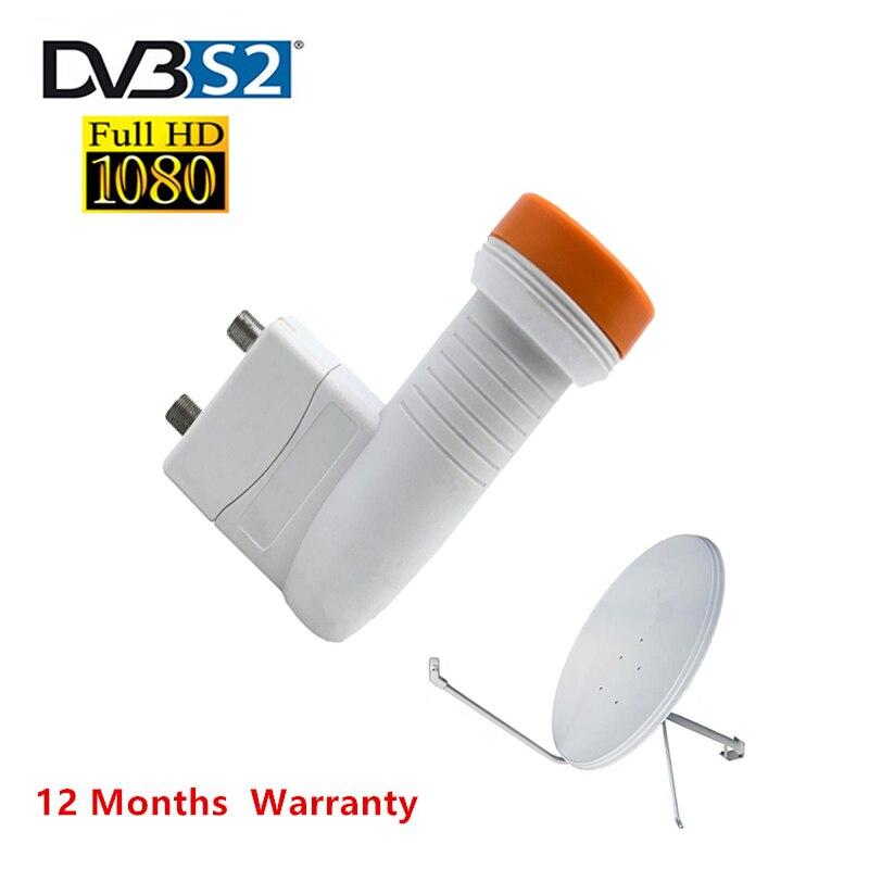 Dvbs2 Digital HD Universal KU Band TWIN LNB Waterproof High Gain 0.1 DB Noise Satellite Dish Antenna TV  Sks Ccam For TV Box