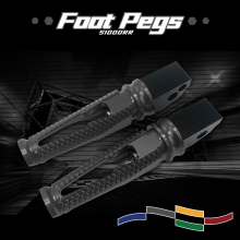 CNC Aluminum Motorcycle Rear Pedal Passenger Foot Pegs Pedals Rear Footrests Foot Pegs Pedals For S1000RR S1000 RR s100rr for sfv650 rear passenger foot pegs cnc aluminum motorcycle footrest sfv 650 footpegs foot rest pegs pedals