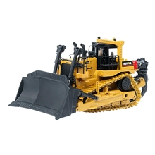 Huina 1700 1/50 Scale Diecast Collectible Dozer with Ripper, High Detail Metal Dozer Model Toy for Kids(Dozer