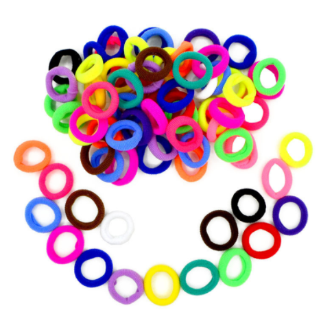 100PCS/Set Girl Elastic Hair Ties Band Rope Ponytail Rubber String Hair Accessories Multicolor Small Children Kids Hairbands