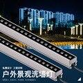 10 шт. 6 Вт 12 Вт Светодиодный светильник для мытья стен ландшафтный свет DC 24 В dmx512 наружные светильники настенная линейная лампа прожектор 100 с...
