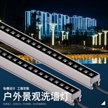 10 Stücke 6w 12w LED Wall Washer Landschaft Licht DC 24V Dmx512 Outdoor Lichter Wand Linear Lampe Flutlicht 100cm Wandfluter