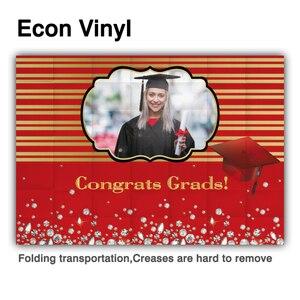 Image 4 - Funnytree 2021 graduação pano de fundo personalizado foto da criança preto azul photophone papel de parede parabéns grad diamante fundo banner