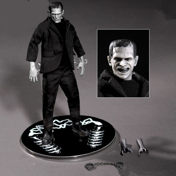 Anime Mary Shelley Frankenstein 16cm PVC Action Figures Toys Frankenstein Moveable Model Toys For Christmas Gifts image