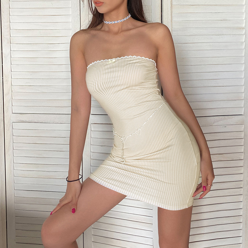 <font><b>sexy</b></font> strapless <font><b>dresses</b></font> women french romantic <font><b>mini</b></font> <font><b>dresses</b></font> elegant party club <font><b>dress</b></font> fashion simple 2020 spring summer new image