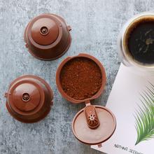 3rd wielokrotnego użytku kapsułka kawy Dolce Gusto 3rd z tworzywa sztucznego wielokrotnego napełniania kapsułka kawy Dolce Gusto nadające się do maszyna Nescafe do produkcji kawy tanie tanio Belr-Housewares Wielokrotnego użytku Filtry
