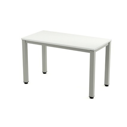TABLE OFFICE 'S EXECUTIVE SERIES 120X60 ALUMINUM/WHITE