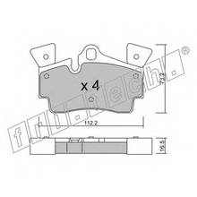 Колодки тормозные дисковые Audi Q7 06-/Porsche Cayenne 04- fri.t