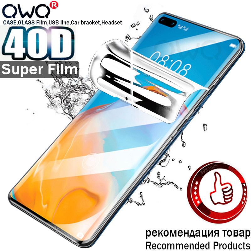 40D Original Screen Protector For Huawei Honor 9X 9 10 Lite 8X 7A 20i 20 Pro p Smart 2019 2018 Z Nova 5t Hydrogel Film Not Glass