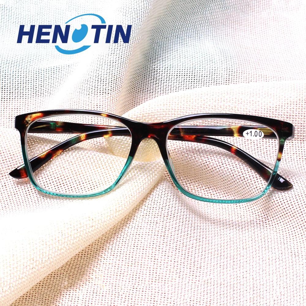 Alla moda rettangolare occhiali da lettura, cerniera a molla, di sesso maschile e femminile lettori di occhiali da vista, occhiali diottrica 0.5 1.75 2.0 3.0 4.0... 1
