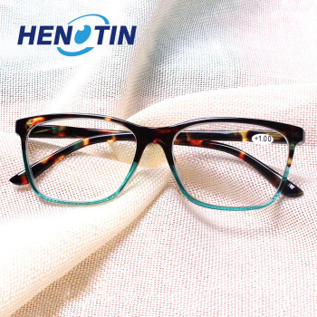 Stylowe prostokątne okulary do czytania zawias sprężynowy męskie i żeńskie okulary do czytania dioptrii 0 5 1 75 2 0 3 0 4 0 #8230 tanie i dobre opinie Henotin WOMEN Unisex Jasne CN (pochodzenie) Gradient 1 53inch Akrylowe 2 08inch Z tworzywa sztucznego +1 00 +1 50 +2 00 +2 50 +3 00 +3 50 +4 00