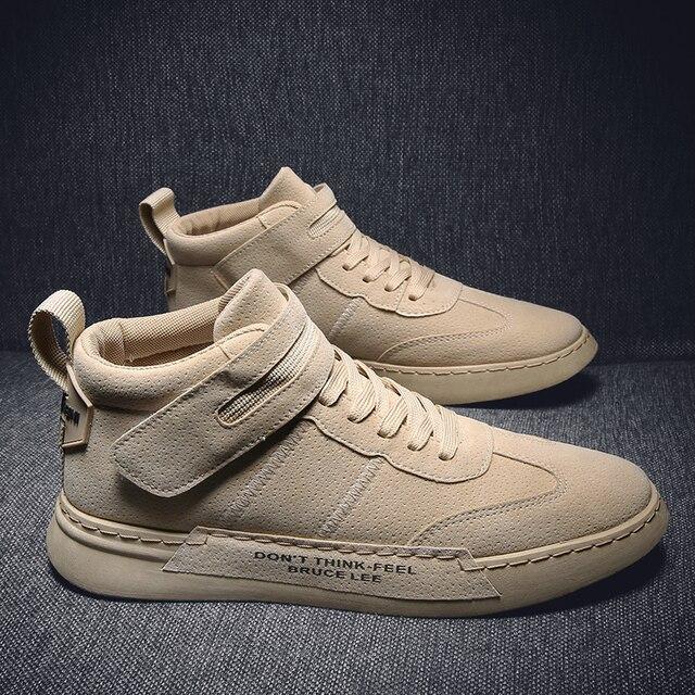 QZHSMY גברים נעליים יומיומיות מגפי סתיו נעל אוורור תלמיד סניקרס Zapatos Hombre רך אור נוח לנשימה 39 44