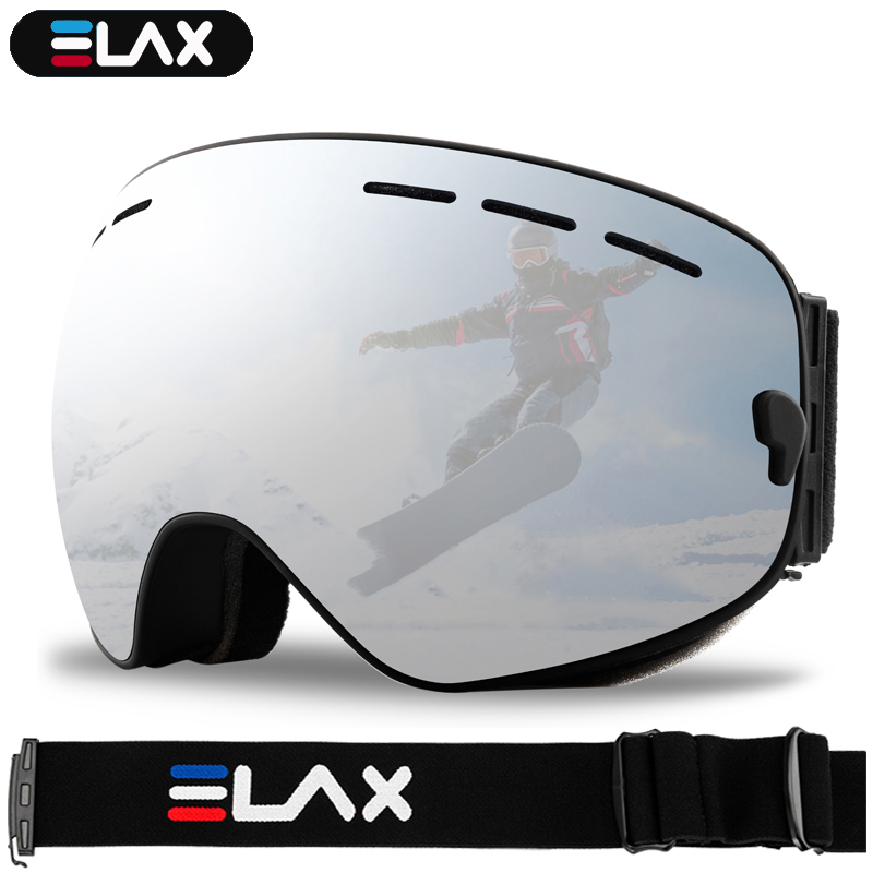 ELAX BRAND NEW Double Layers Anti-Fog Ski Goggles Snow Snowboard Glasses Snowmobile Eyewear Outdoor Sport Ski Googles