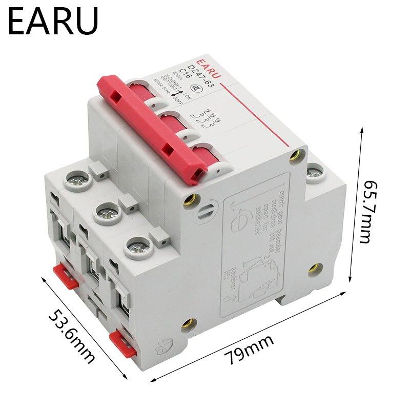 H5183c1a7553940f1b3fd5892ae986f47e - DZ47 1-4 Pole 3A/6A/10A/16A/20A/32A/40A/50A/63A 400V C Type Mini Circuit Breaker MCB 35mm Din Rail Mount Breaking Capacity 6KA